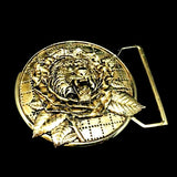 Tiger Rose Inspired Belt Buckle Cast in Yellow Brass