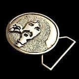 Frank Zappa Tribute Belt Buckle Cast in White Brass
