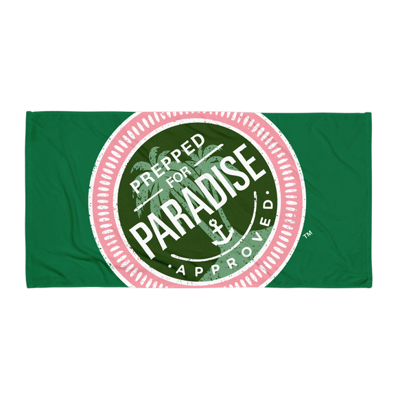 Prepped for Paradise™ Green Logo Towel