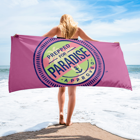 Prepped for Paradise™ Pink Beach Towel