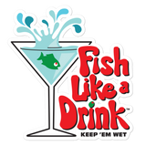 Fish Like a Drink™ Bubble-free Sticker