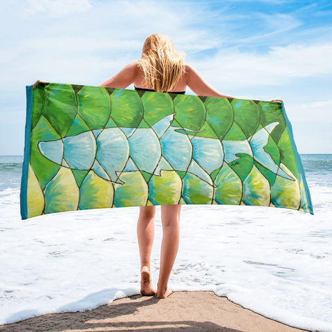 Tarpon Scale Artwork Beach Towel