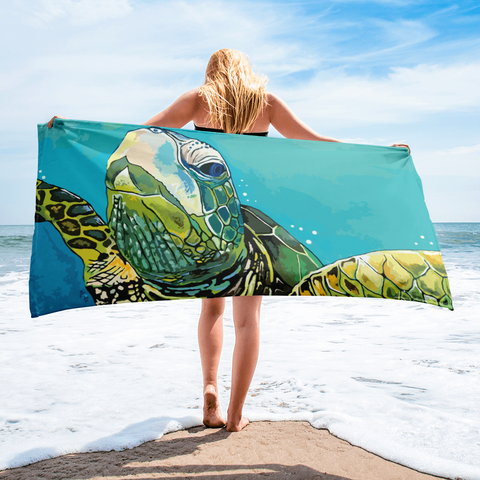 Green Turtle Towel