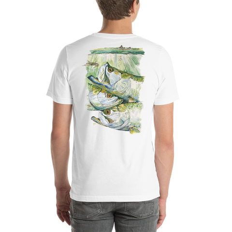 Boca Grande Pass Tarpon Lightweight Cotton Short-Sleeve T-Shirt