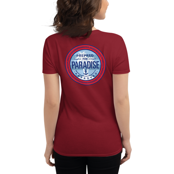 Women's Prepped for Paradise Red, White & Blue Cotton short sleeve t-shirt