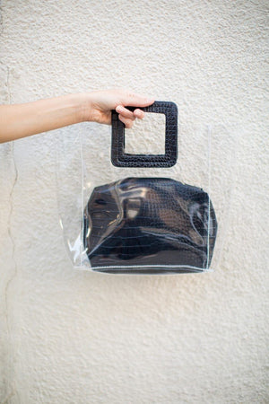 Amanda Clear Bag in Black
