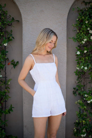 Camila Striped Tank Romper