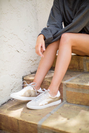 Gemma Gold Star Sneakers
