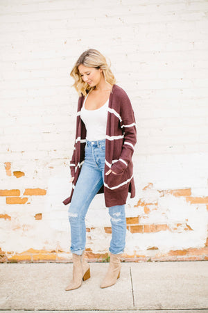Haven Striped Cardigan