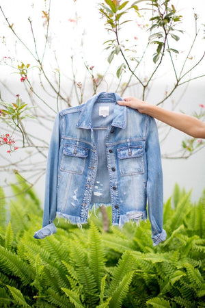 Ava Distressed Denim Jacket