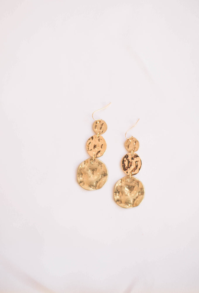 Josephine Hammered Earring