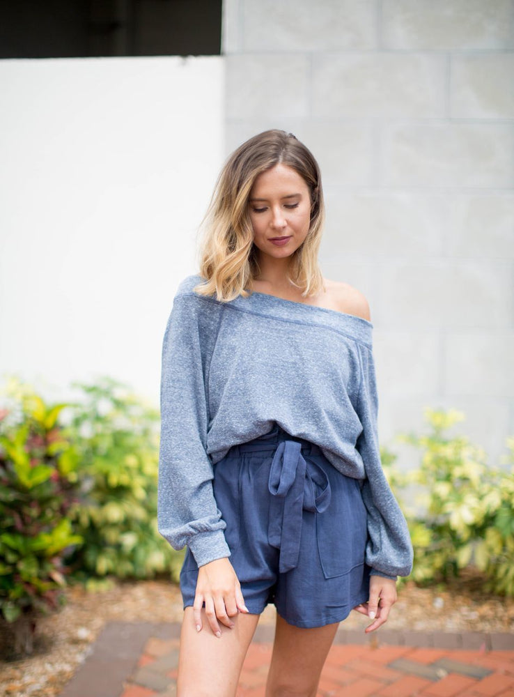 Laurel Wide Neck Long Sleeve Top