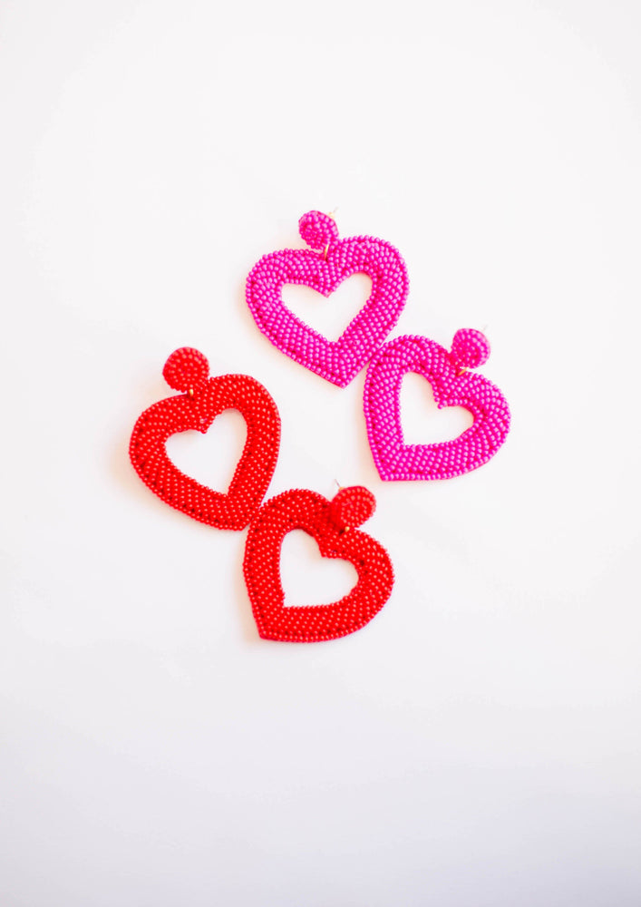 Melody Beaded Heart Earring