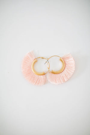 Mia Tassel Earring in Pink