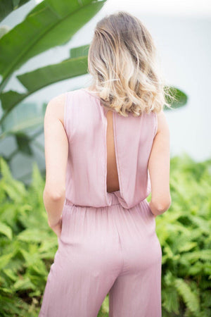 Minka Open Back Crop Jumpsuit