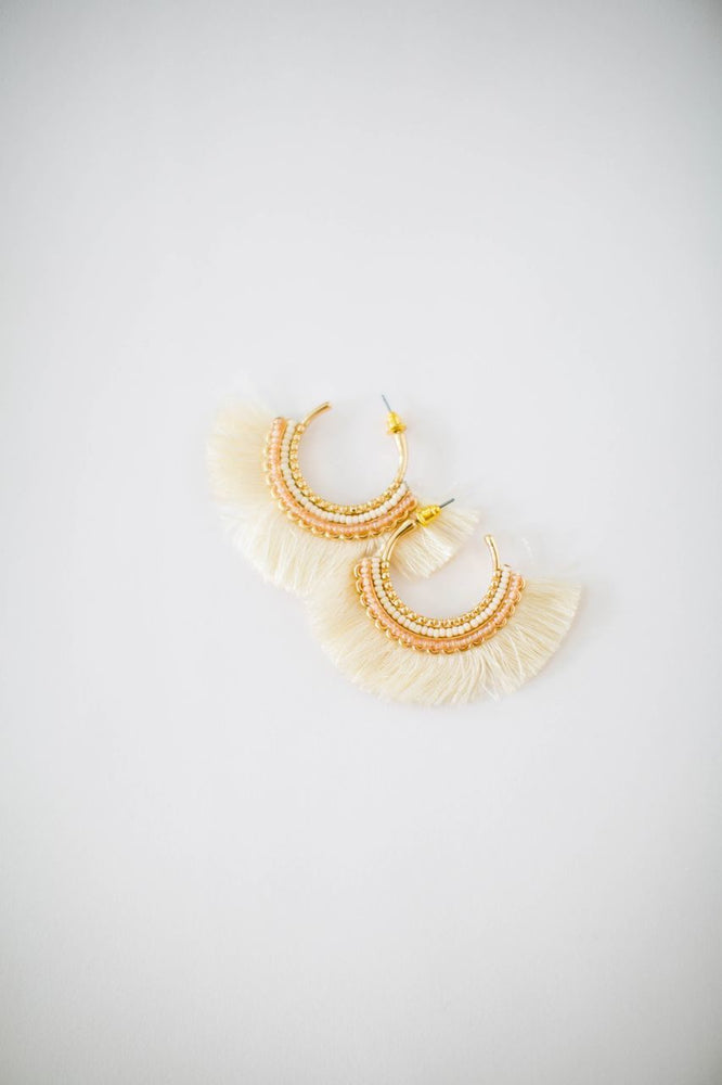 Olivia Earrings in Ivory