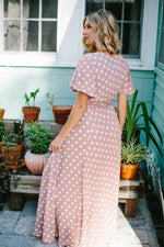 Paris Polka Dot Wrap Maxi Dress