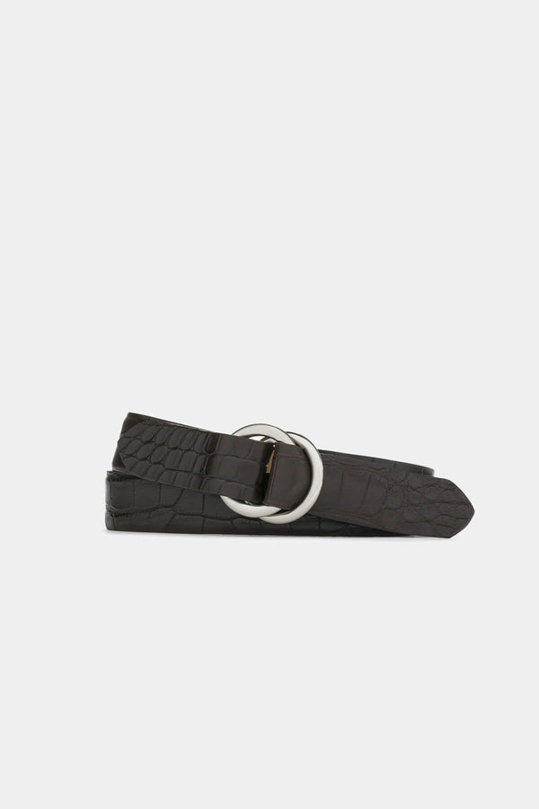 Matte Alligator Belt with O-ring Buckle