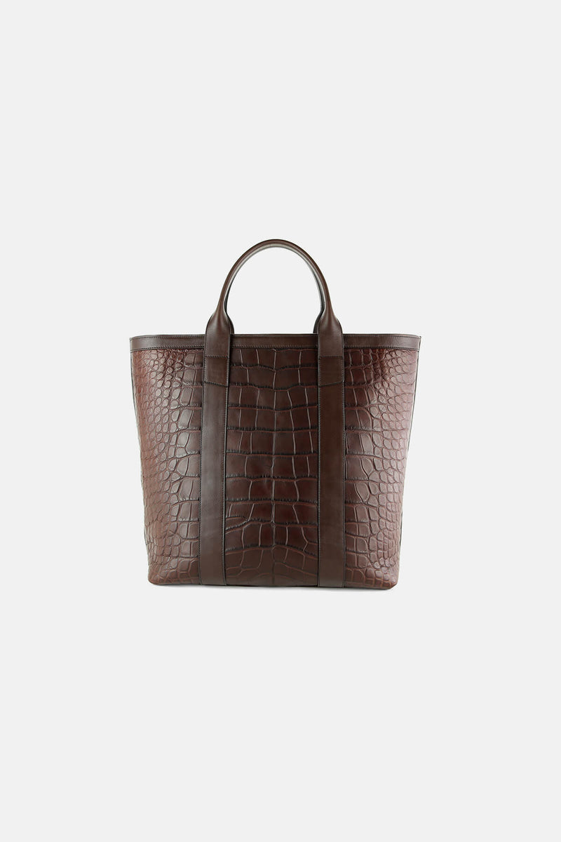 Alligator Zipper Tote Bag