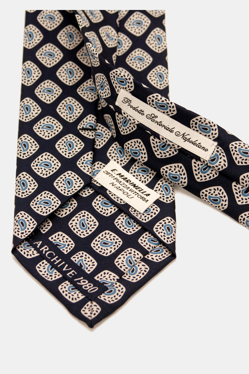 E. Marinella Archivio Collection Hand Blocked Indian Paisley Tie