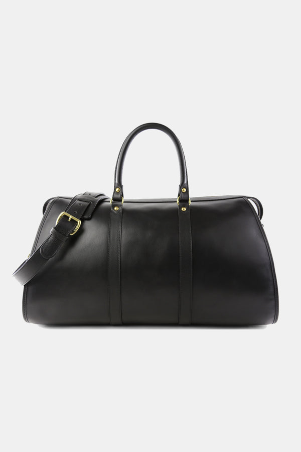 Frank Clegg Hampton Black Leather Zip Duffle