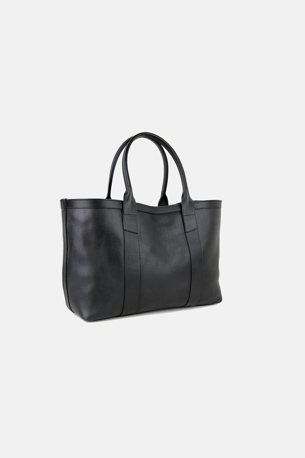Frank Clegg Large Leather Working Tote Black Calf