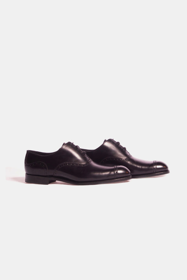 Barker Black Clifton Cap Toe Shoe