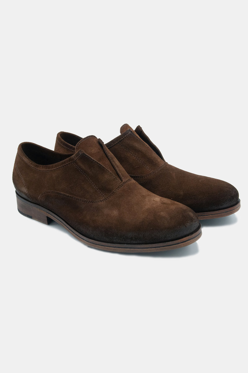 Chelo Slip On in Chocolate Suede
