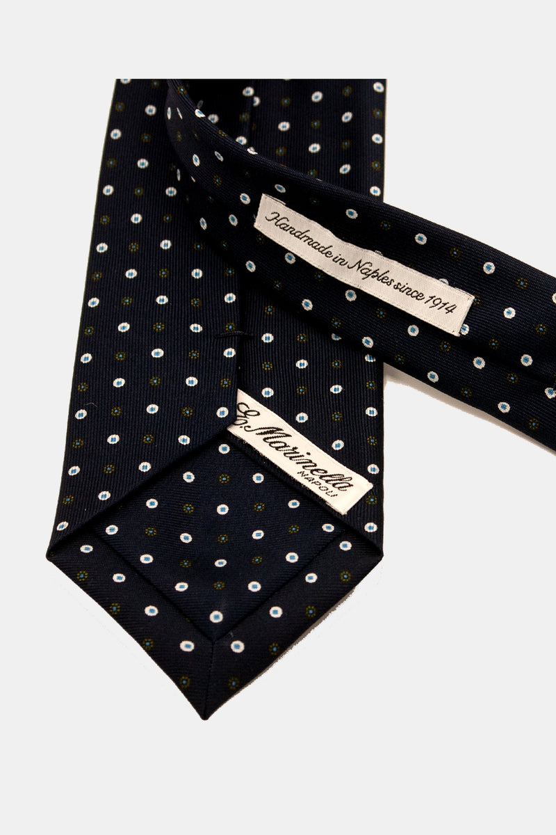 Navy Double Dot Tie