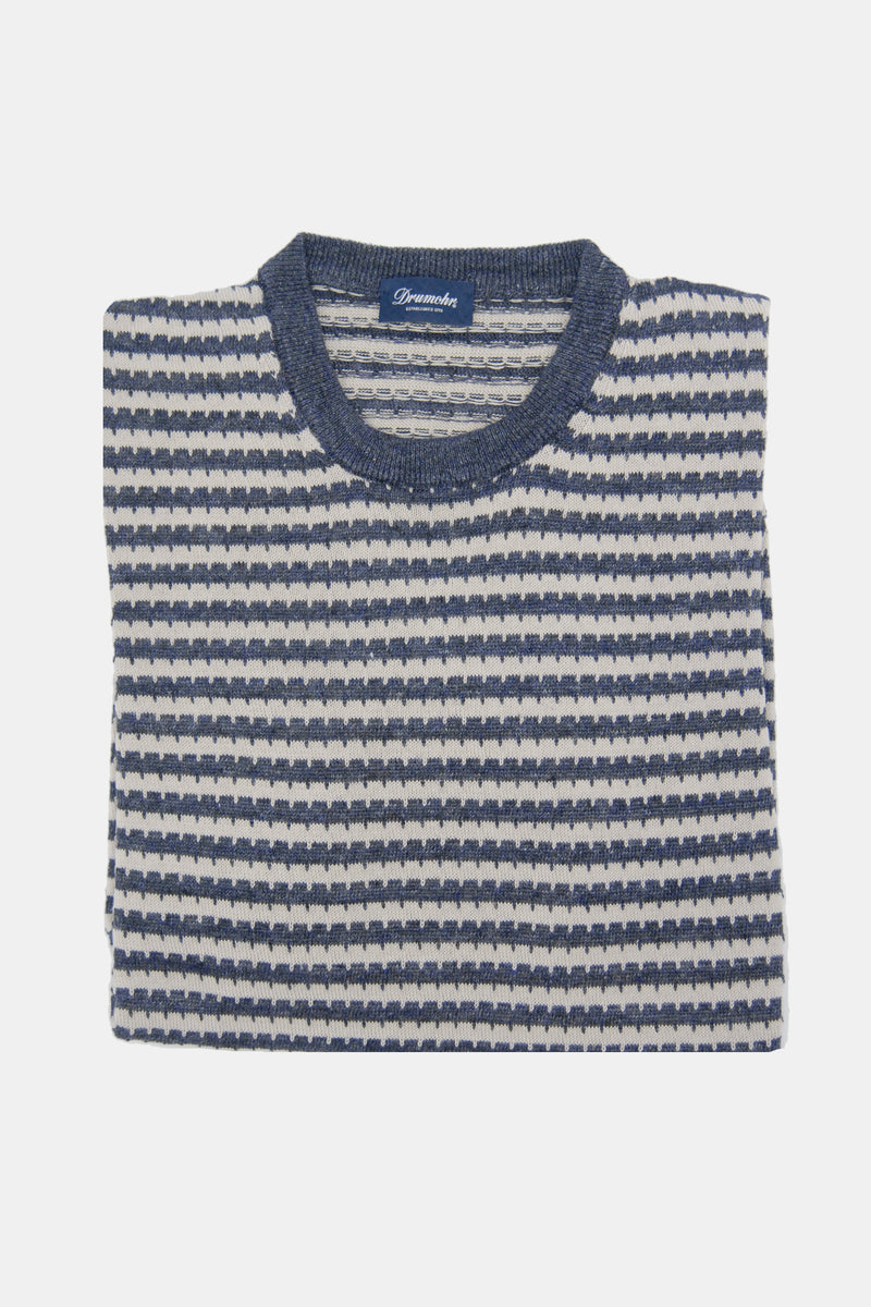 Drumohr Striped Knit Crewneck Sweater