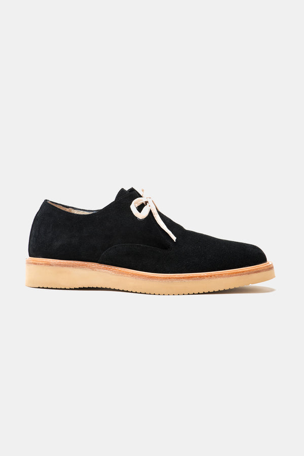 Dandy Lace Up in Black Suede