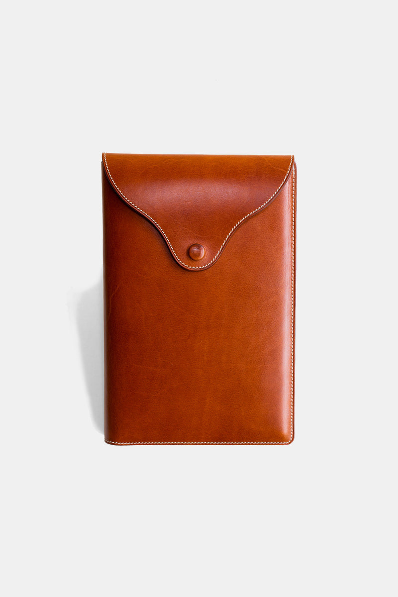 Leather Journal Cover in Chestnut Calf