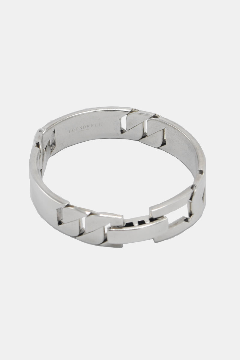Foundwell Men's Sterling Silver ID Bracelet
