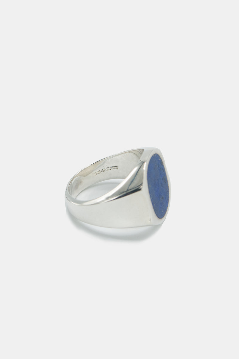Foundwell Men's Sterling Silver Ring with Lapis