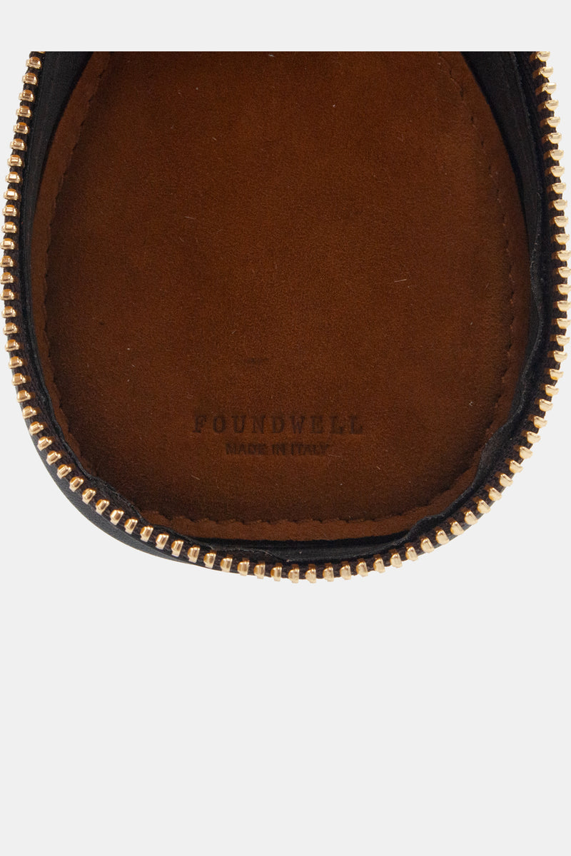 Foundwell Leather Watch Travel Case in Chocolate Calf