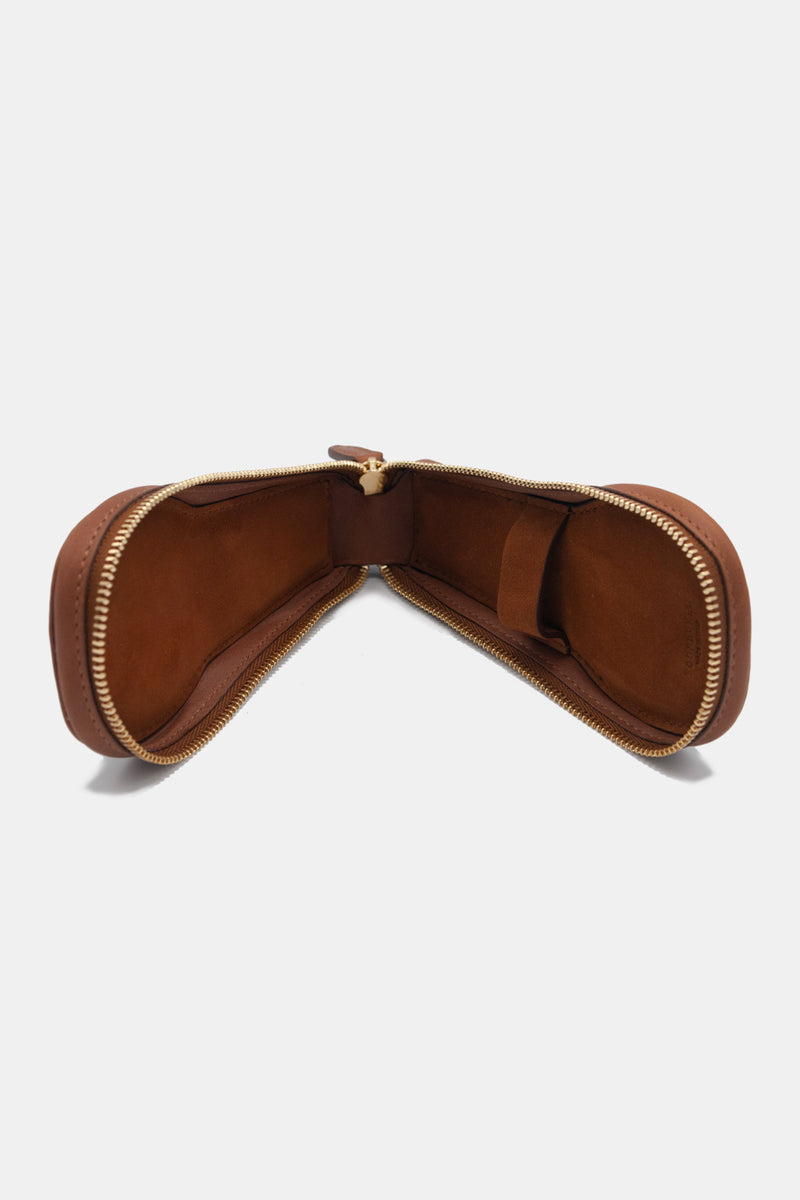 Foundwell Leather Watch Travel Case in Chestnut