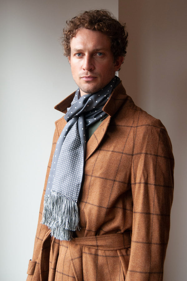 Fox Flannel Windowpane Overcoat