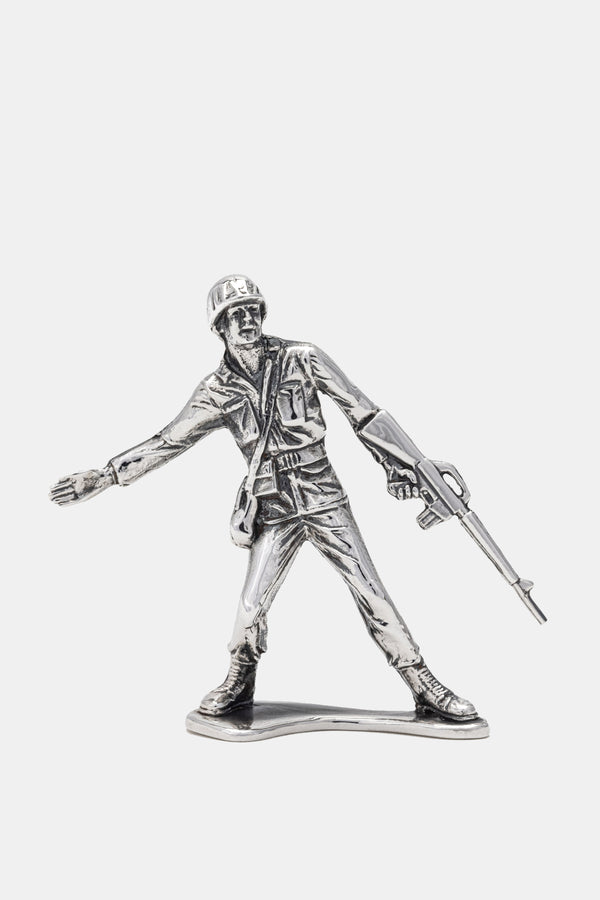 Sterling Silver Charging Army  Soldier