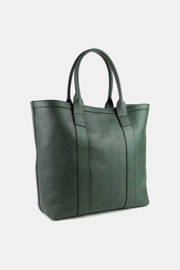 Tall Medium Tote in Green Calf