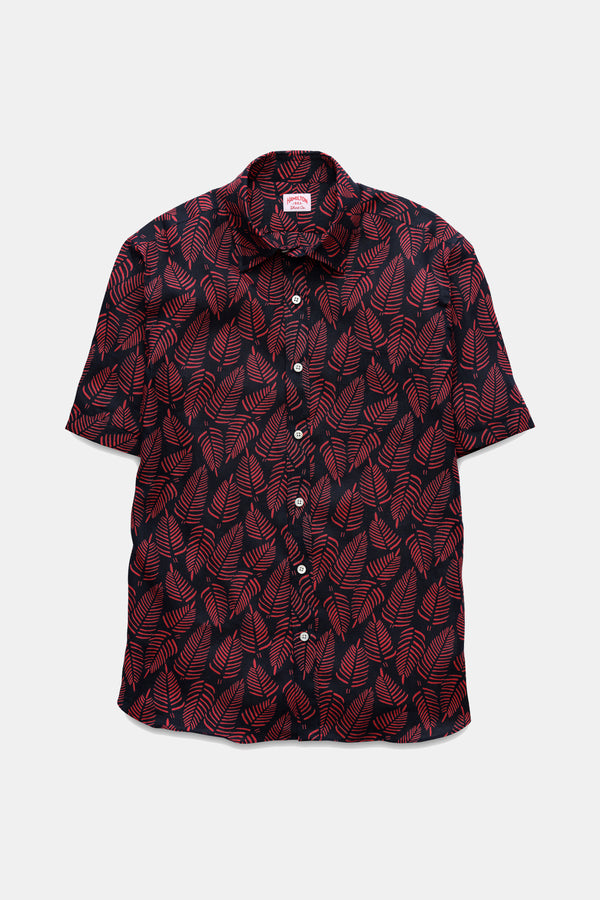 Hamilton Palm Print Short Sleeve Shirt