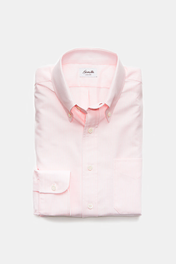 Hamilton Oxford Bengal Stripe Button Down in Pink