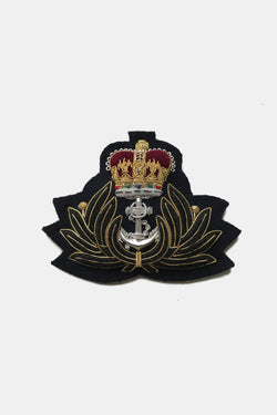 Royal Navy Chaplains Bullion Blazer Crest, Made in England