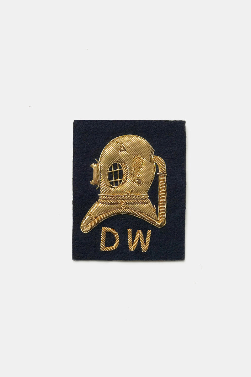Deep Water Divers Helmet Bullion Blazer Crest