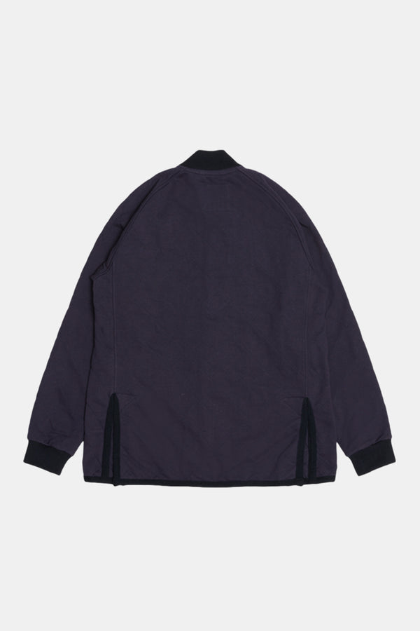 Lavenham Jersey Bomber Jacket In Navy
