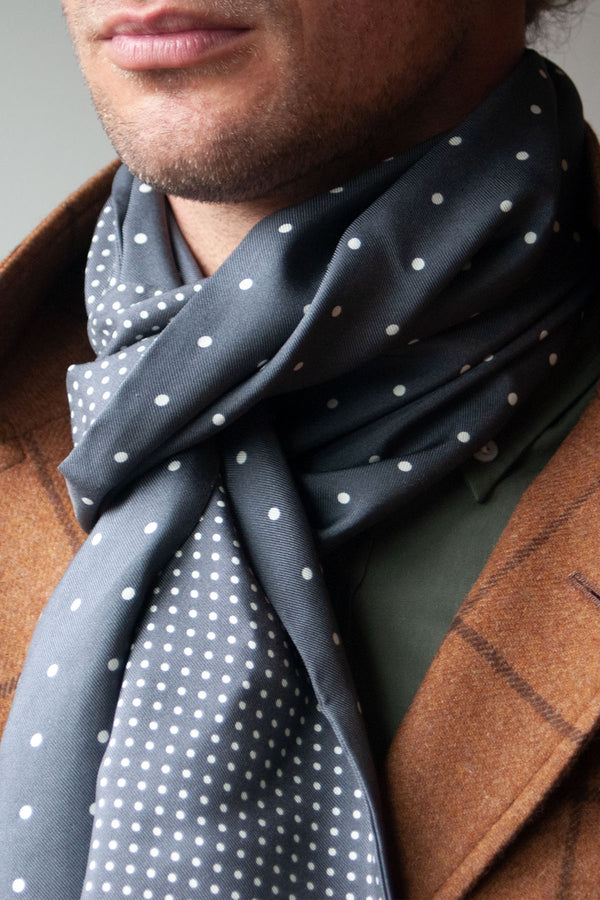 Maker & Co. Double Sided Multi Dot 36 oz. Silk Scarf