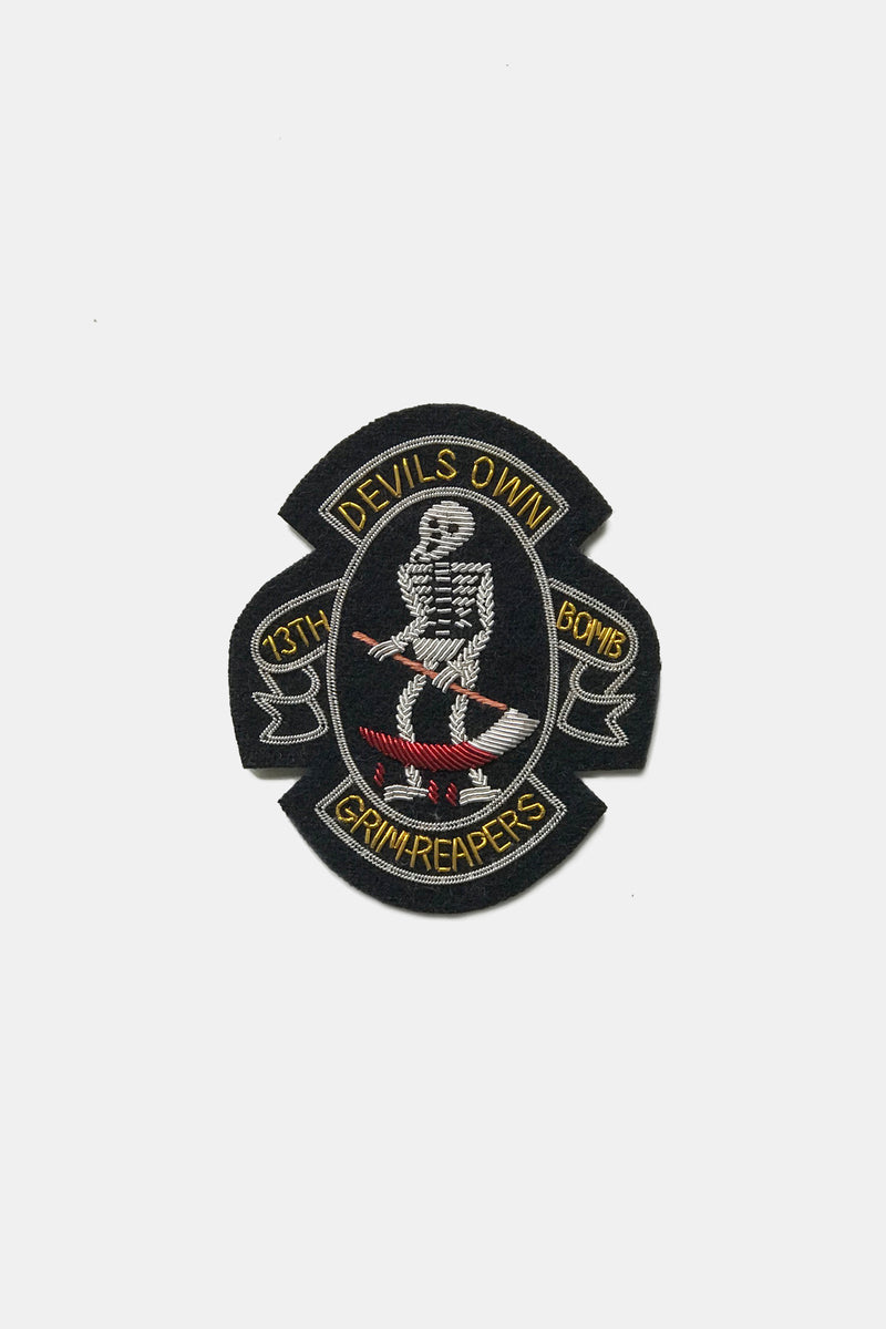 "Maker & Co. Hand Embroidered ""Devil's Own"" Bullion Patch"