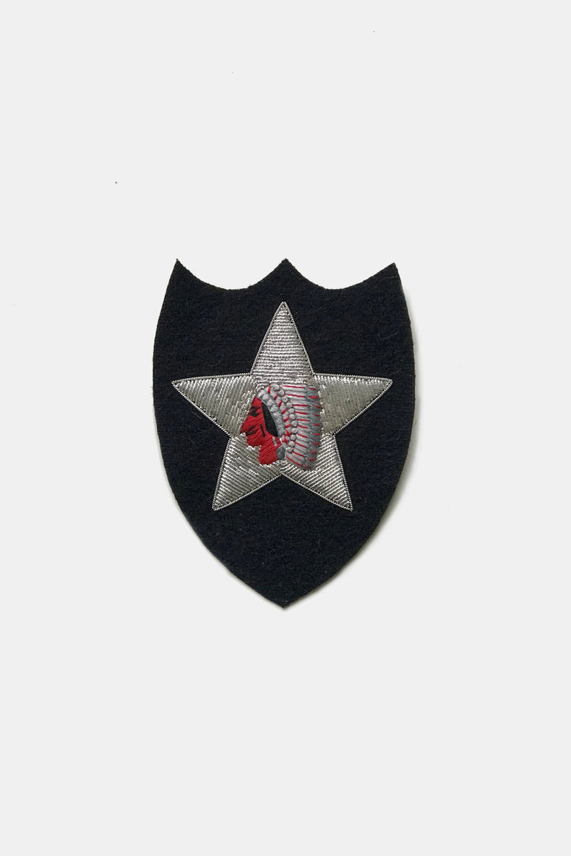 "Maker & Co. Hand Embroidered 2nd Infantry ""Indianhead"" Bullion Patch"