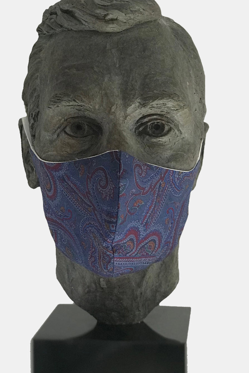 Silk Paisley Mask with Microfiber Cotton Lining