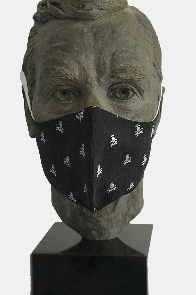 Black Skull & Bones Mask with Microfiber Cotton Lining