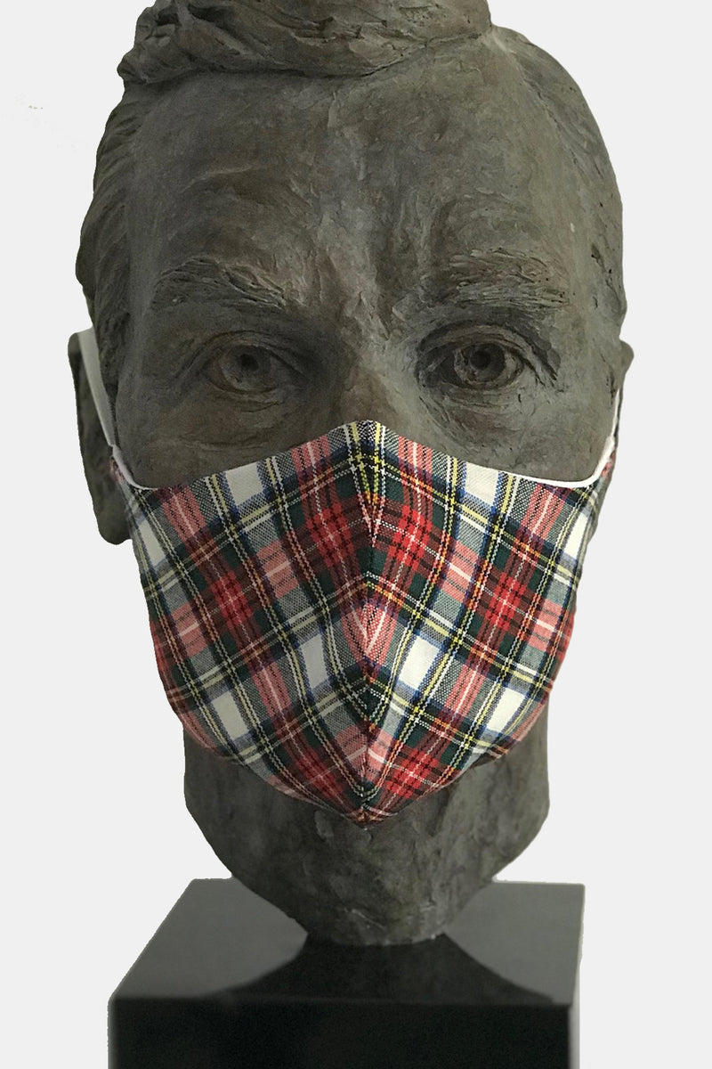 Dress Stewart Tartan Mask with Microfiber Cotton Lining